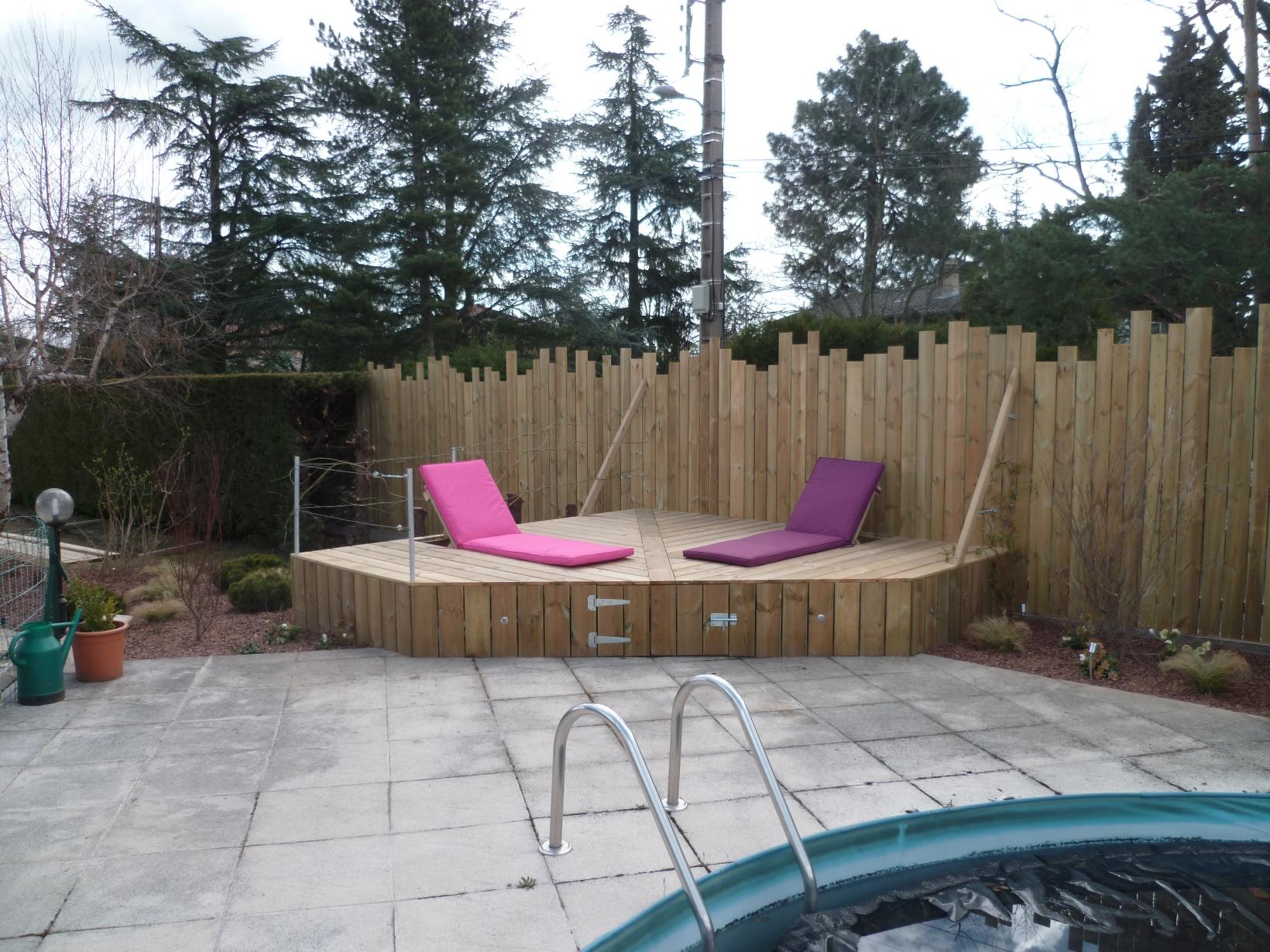 Jour de jardin paysagiste lyon piscines et spa - Piscine bois octogonale lyon ...